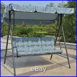 Outdoor Patio Swing Porch Furniture Yard Steel Frame 3 Seats Canopy Garden Deck