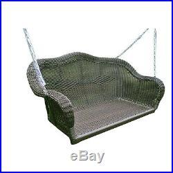 Outdoor Patio Wicker Furniture Porch Swing Garden Seat Hammock Yard Black NEW