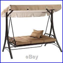 Garden Furniture Hammock Swing outdoor porch swing with canopy steel patio furniture hammock