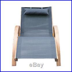 Outdoor Reclining Chaise Lounge Chair Pool Lawn Lounger Beach Sun Patio