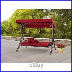 Outdoor Reclining Reclining Swing Chair Canopy Patio Seat Daybed Porch Bed Red  sc 1 st  Garden Swings & Outdoor Reclining Reclining Swing Chair Canopy Patio Seat Daybed ...