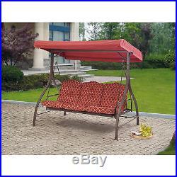 Outdoor Swing Patio Porch Canopy 3-Seat Furniture Hammock Yard Garden Backyard