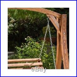 Outdoor Yard Swing Bench Wood Loveseat Hammock Patio Furniture Porch Swings  New