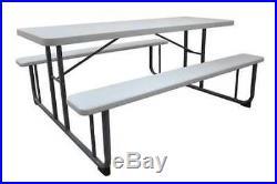 PT-14KD Picnic Table, 72 W x60 D, White