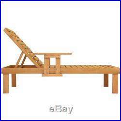 Patio Chaise Sun Lounger Outdoor Garden Side Tray Deck Chair Beach Chair Wood