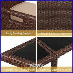 Patio Furniture Set 9 Pcs Outdoor Wicker Sofas Rattan Chair Wicker Conversation