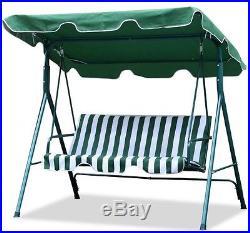Patio Furniture Swing Set Canopy Backyard Outdoor Garden Deck Yard White Green
