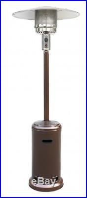Patio Heater Tall Bronze Finish Garden Outdoor Heater Propane Standing Gas PH87