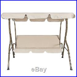 Patio Outdoor Lawn Swing Canopy Porch Glider Bench Deck 2 Seat Relax Furniture