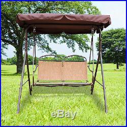 Patio Swing Hammock Chair Outdoor Patio Backyard Porch Furniture Steel 2 Seats