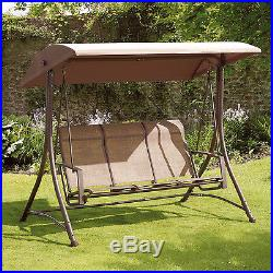 Patio Swing With Canopy 3 Seat Glider Porch Backyard Home Garden Outside
