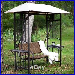 Patio Swing With Canopy Porch Outdoor Lawn Garden Gazebo 2 Person Back Yard