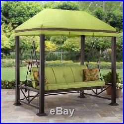 patio swing with gazebo 3 person seat outdoor garden bench hammock furniture patio swing with gazebo 3 person seat outdoor garden bench hammock      rh   gardenswings name