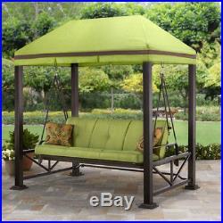 Pergola Swing For Backyards Outdoor Love Seat Gazebo With Canopy Garden Patio