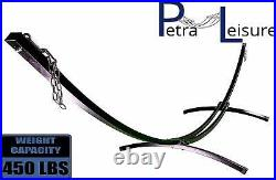 Petra Leisure 15. Ft Indoor/Outdoor Black Steel Arc Hammock Stand (stand only)