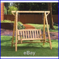 Pine Wood Garden Swing