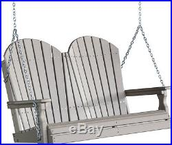 Poly Furniture Wood 4 Foot Adirondack Outdoor Porch Swing WEATHERWOOD 4 ft
