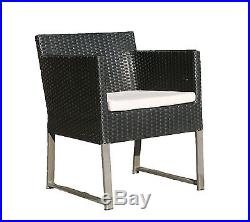 Poly Rattan Set Garnitur Sitzgruppe Sessel ALU Möbel Lounge Garten 77 x 77 cm