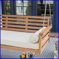 Porch Bed Swing Deep Seating With Cushion Hanging Outdoor