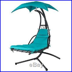 Porch Hanging Chaise Swing Lounger Chair Stand Patio Pool Garden Hammock Canopy