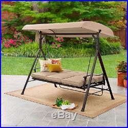 Porch Swing 3 Seats Canopy Patio Furniture Outdoor Glider Cushion Hammock Yard