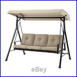 Superbe Porch Swing 3 Seats Canopy Patio Furniture Outdoor Glider Cushion Hammock  Yard