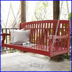 Porch Swing 4 Foot Furniture Outdoor Seat Wooden Hanging Chair Wood Patio Person