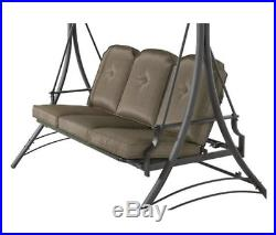 Porch Swing Bed Frame Futon 3 Outdoor Patio Cushion Canopy Glider Bench Deck