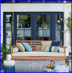Porch Swing Bed With Cushion Hanging Outdoor Patio Lounge Deck Deep Seating New