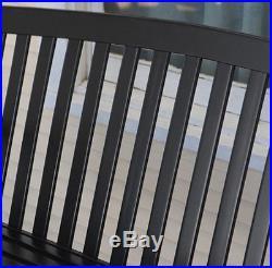 Porch Swing Hanging Wooden 4 Ft Outdoor Furniture Patio Bench Garden Deck Black