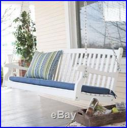 Swell Porch Swing White 5 Ft Wood Outdoor Furniture Bench Seat Creativecarmelina Interior Chair Design Creativecarmelinacom