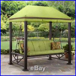 Porch Swing With Canopy Swings Bed Outdoor Patio Furniture With Cushions