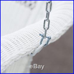Porch Swings On Sale White Hanging Resin Wicker Coastal Furniture Patio Outdoor
