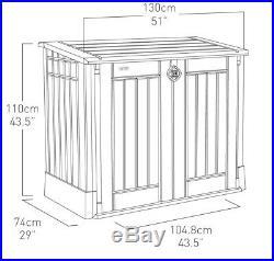 Porta Attrezzi Box Esterno Finto Legno In Resina Beige Keter Store 130x74x110hCm