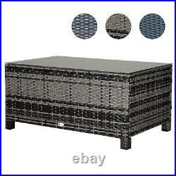 Rattan Outdoor Garden Furniture Weave Wicker Coffee Table Black/Grey/Brown