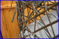 Rattan Swing Patio Garden Weave Hanging Egg Chair withCushion Indoor Outdoor