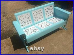 Restored Vintage Metal Glider Porch Patio 3seater Powdercoated Piecrust