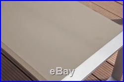 Ribelli 4 teilige Aluminium Polyester Lounge Set Sitzgruppe Sitzgarnitur taupe