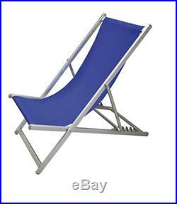 Sedia Sdraio Pieghevole Regolabile In Alluminio Da Mare Spiaggia Piscina (34462)
