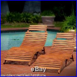 (Set of 2) Outdoor Patio Furniture Folding & Portable Chaise Lounge Chair