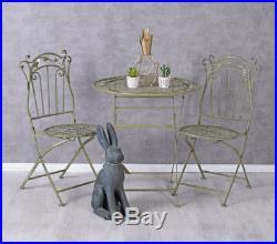 Sitzgarnitur Garten Stühle Tisch Gartenset Metall Sitzgruppe Balkonset Essgruppe