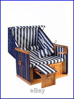 Strandkorb Set Nordstrand in blau inkl. Strandkorbhülle Vollieger Nordse
