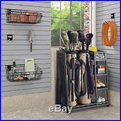 Suncast Complete Storage Heavy Duty Metal Golf Equipment Organizer Storage Rack