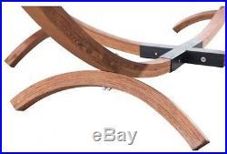 Sunjoy Square Hammock Wood Steel Frame Outdoor Backyard Patio Garden Furniture