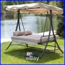 Swing Canopy Patio Outdoor Hammock Furniture Porch Person 3 Seat Cover Yard Top