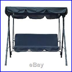 Top Quality 3 Person Canopy Porch Swing Outdoor Patio Garden Furniture Deck Bed