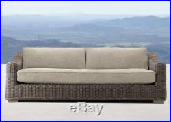 Unused Restoration Hardware Provence Brown Outdoor Sofa 76 Couch Chair Patio RH