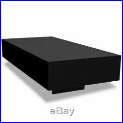 VidaXL Coffee Table High Gloss Black Accent Tea Side Living Room Furniture