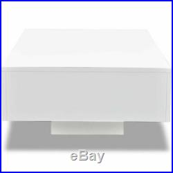 VidaXL Coffee Table High Gloss White 33.5 Accent Tea Side Living Room Stand