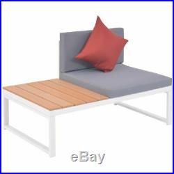 VidaXL Garden Corner Sofa Set 19 Piece Aluminum WPC Outdoor Patio Furniture